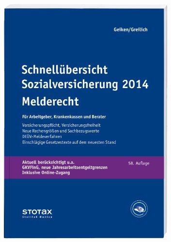 9783083141143: Schnellübersicht Sozialversicherung 2014 Melderecht