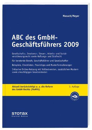 9783083160038: ABC des GmbH-Gesch�ftf�hrers 2009