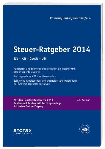9783083177142: Steuer-Ratgeber 2014