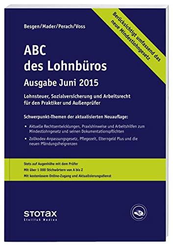 9783083178651: ABC des Lohnbüros Ausgabe Juni 2015