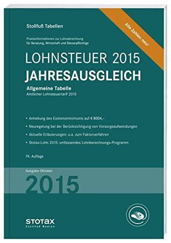 Tabelle, Lohnsteuer Jahresausgleich 2015