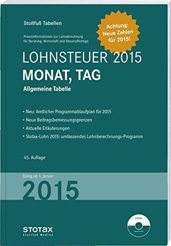 Stollfuß Tabellen Lohnsteuer 2015 Monat, Tag - Sonderausgabe Dezember