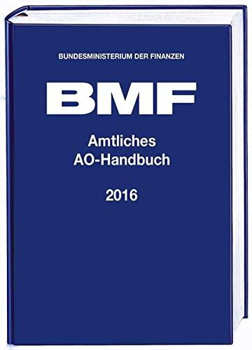 9783083623168: Amtliches AO-Handbuch 2016