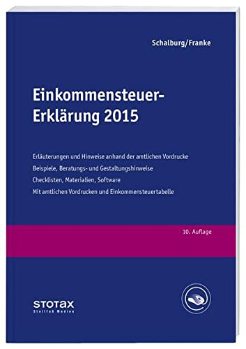 Einkommensteuer-Erklärung 2015: Martin Schalburg