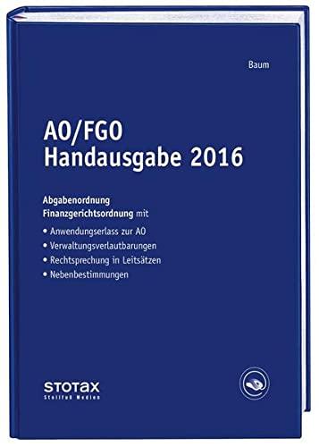AO/FGO Handausgabe 2016
