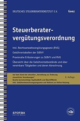 9783083710097: Steuerberatervergütungsverordnung