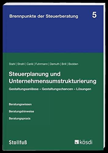 Steuerplanung und Unternehmensumstrukturierung: Martin Strahl