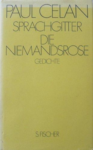 Sprachgitter/Die Niemandsrose. Gedichte: Paul Celan