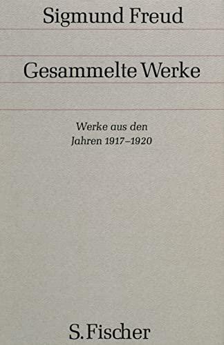 Werke aus den Jahren 1917-1920: Sigmund Freud