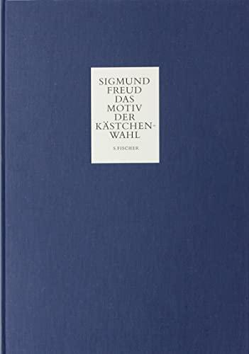 Das Motiv der Kästchenwahl: Faksimileausg (German Edition) (9783100227416) by Sigmund Freud