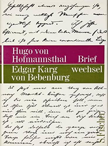 9783100315304: Briefwechsel Hofmannsthal / Karg von Bebenburg