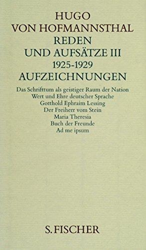 9783100315502: Gesammelte Werke, 10 Bde., geb., 10, Reden und Aufsätze III. 1925-1929. Aufzeichnungen.