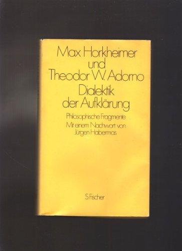9783100318039: Dialektik der Aufklärung. Philosophische Fragmente 1947