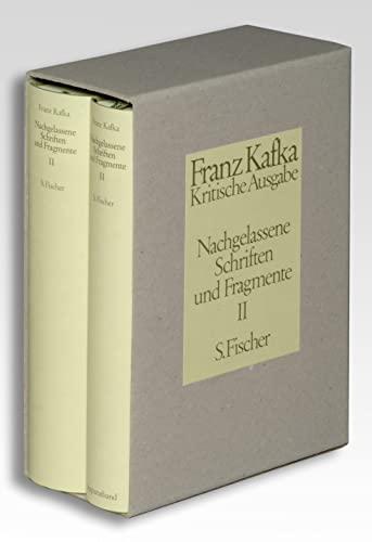 9783100381446: Nachgelassene Schriften und Fragmente II. Kritische Ausgabe: Textband / Apparateband (Schriften, Tagebücher, Briefe : kritische Ausgabe / Franz Kafka)