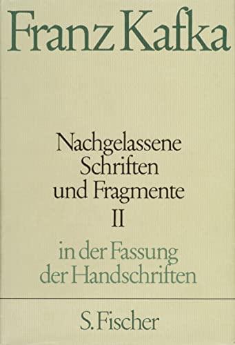 9783100381477: Nachgelassene Schriften und Fragmente II: In der Fassung der Handschrift