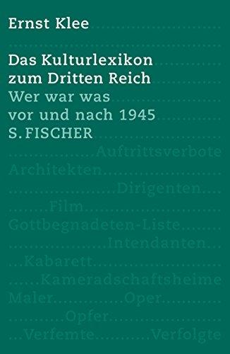 9783100393265: Das Kulturlexikon zum Dritten Reich: Wer war was vor und nach 1945