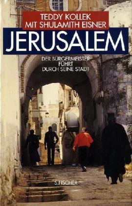 Jerusalem. - Der Bürgermeister führt durch seine Stadt. Teddy Kollek mit Shulamith Eisner...