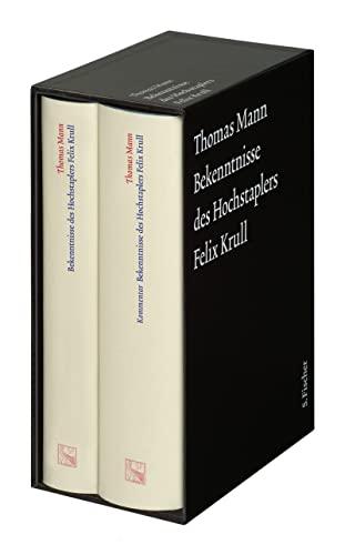 9783100483454: Bekenntnisse des Hochstaplers Felix Krull. Große kommentierte Frankfurter Ausgabe. Text und Kommentarband: 12/1-2