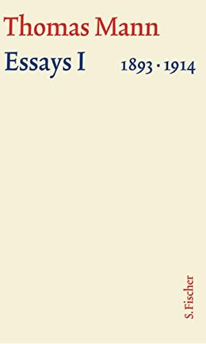 9783100483492: Essays 01. Große kommentierte Frankfurter Ausgabe. Textband: 1893 - 1914