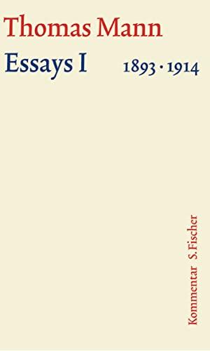9783100483508: Essays 01. Große kommentierte Frankfurter Ausgabe. Kommentarband: 1893 - 1914