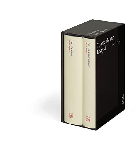 Thomas Mann: Essays I 1893-1914 und Kommentar Essay I 1893-1914 - Zwei Bände im Schuber: Mann,...