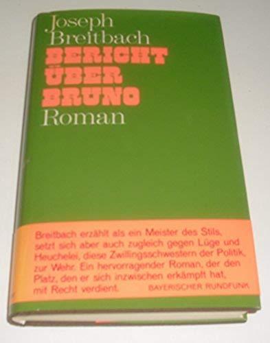 9783103054019: Bericht über Bruno. Roman.