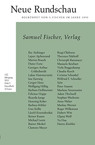 9783108090869: Neue Rundschau 2011/3: Samuel Fischer, Verlag