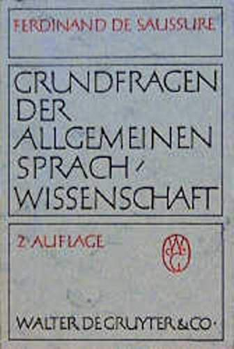 9783110001587: Grundfragen der Allgemeinen Sprachwissenschaft