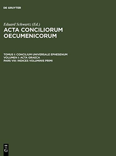 9783110004151: Indices voluminis primi (Ancient Greek Edition)