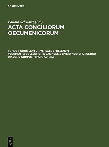 9783110004366: Collectionis Casinensis Sive Synodici a Rustico Diacono Compositi Pars Altera (Latin Edition)