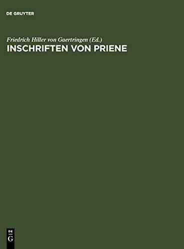 9783110013696: Inschriften Von Priene