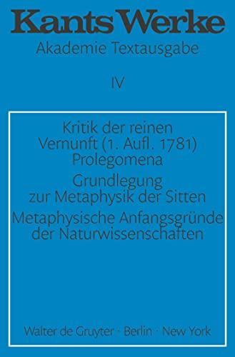 9783110014372: Kritik Der Reinen Verninft (Kants Werke Akademie Textausgabe)