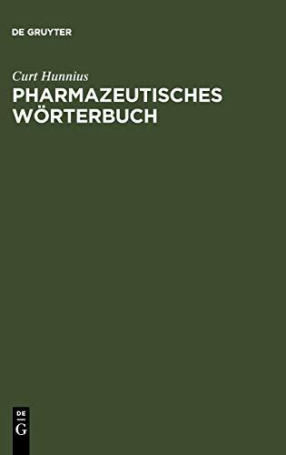 9783110016314: Pharmazeutisches Wörterbuch