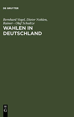 9783110017328: Wahlen in Deutschland (German Edition)