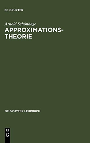 9783110019827: Approximationstheorie (de Gruyter Lehrbuch)