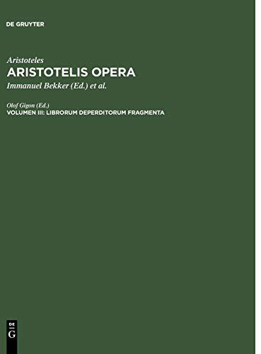 9783110023329: Librorum Deperditorum Fragmenta (German Edition)