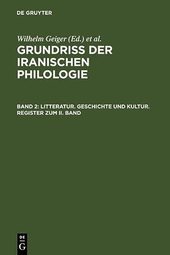 9783110024937: Litteratur, Geschichte und Kultur, Register zum II. Band