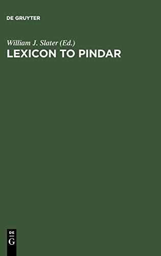 Lexicon to Pindar: Slater, William J.