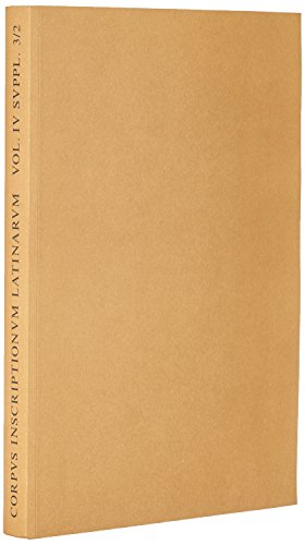 9783110031843: Corpus Inscriptionum Latinarum (Latin Edition)