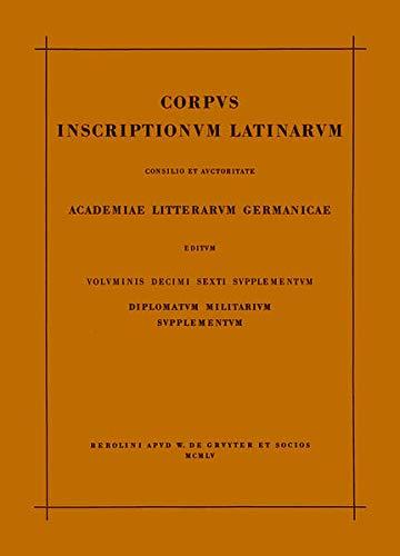 9783110031867: Corp Inscr Lat Vol 16 Suppl ND (Latin Edition)