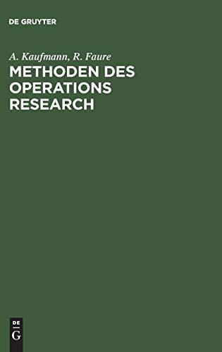 9783110034738: Methoden Des Operations Research: Eine Einführung in Fallstudien