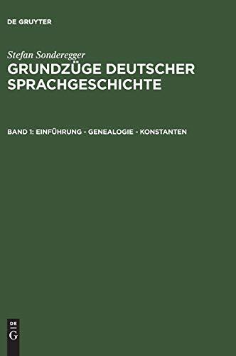 9783110035704: Einführung - Genealogie - Konstanten (German Edition)