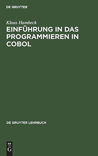 9783110036251: Einfuhrung in Das Programmieren in COBOL
