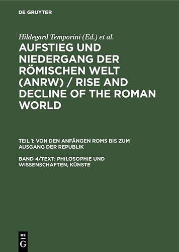 9783110045703: Philosophie und Wissenschaften, Künste