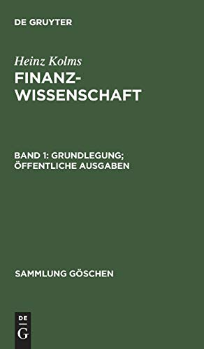 9783110045970: Grundlegung; Öffentliche Ausgaben (Sammlung Göschen)