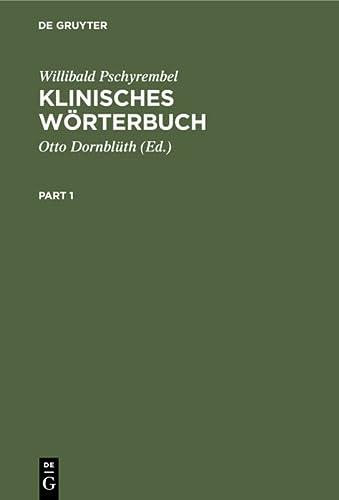 9783110048445: Klinisches Wörterbuch mit klinischen Syndromen (German Edition)