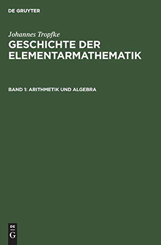 9783110048933: Arithmetik und Algebra, Bd 1