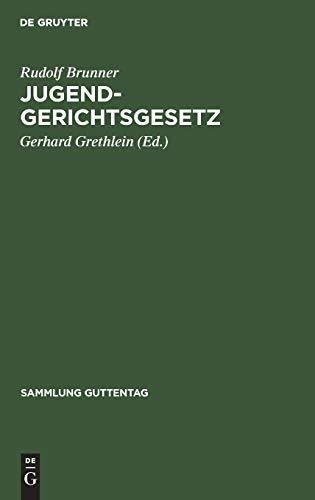 9783110057508: Jugendgerichtsgesetz (Sammlung Guttentag)