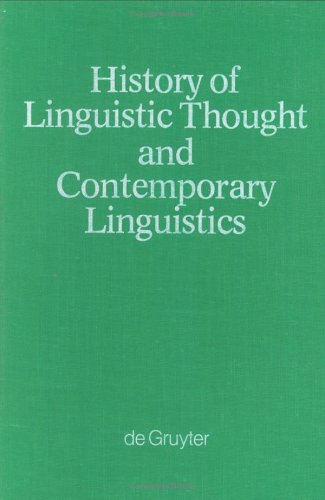 9783110058185: History of Linguistic Thought and Contemporary Linguistics (Grundlagen der Kommunikation und Kognition/Foundations of Communication and Cognition)