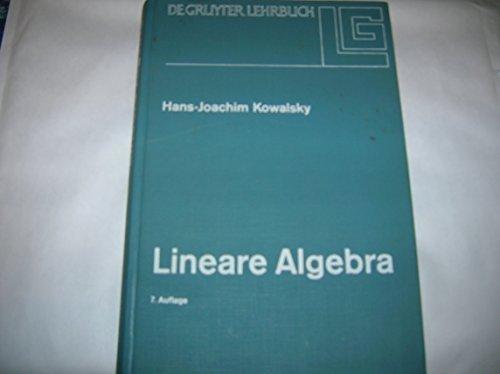 9783110058598: Lineare Algebra